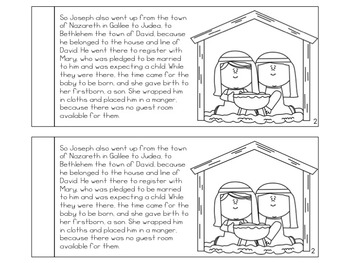 Christmas Nativity Booklet based on Luke 2 - FREE