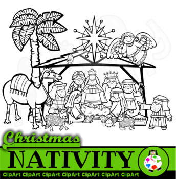Christmas Nativity Clip Art Set