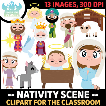 Christmas Nativity Clipart | Instant Download Vector Art | Commercial Use