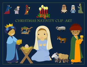 Christmas Nativity Clipart {Audio and Scenery Included}