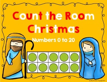 Christmas Nativity Count the Room 0 to 20 (Using 10 Frames)