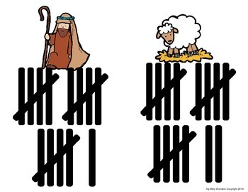 Christmas Nativity Count the Room with Tally Marks 0 to 20