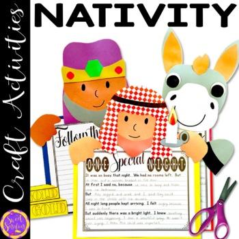 Christmas Nativity Craft Bundle (Shepherd; Wise Men; Donkey)