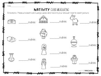 Christmas Nativity Cube Measuring