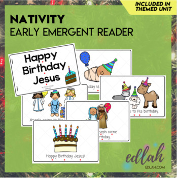 Christmas Nativity Early Emergent Reader