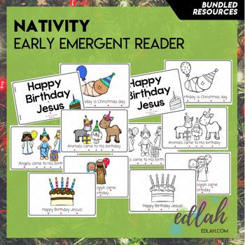 Christmas Nativity Early Emergent Reader - BUNDLE