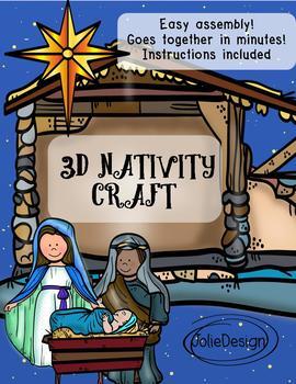 Christmas Nativity Easy 3D Craft Printable