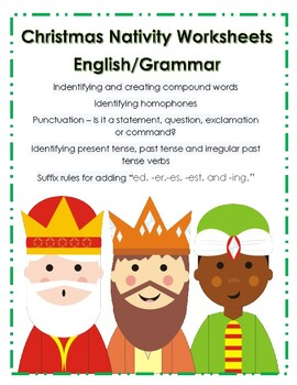 Christmas Nativity English/Grammar Worksheets