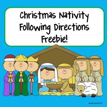 Christmas Nativity Following Directions Freebie