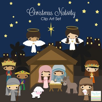 Christmas Nativity Friends Series clip art