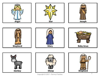 Christmas Nativity Game and Craft Activity Freebie