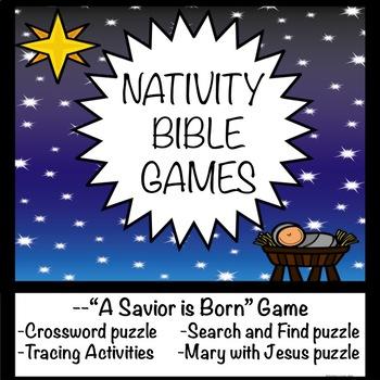 Nativity Christmas Games  Fun Activities  No Prep  A Savior is Born Game