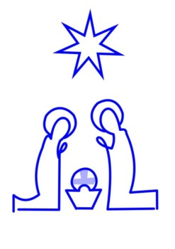 Christmas Nativity Handout with activities