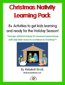 Christmas Nativity Learning Pack: 8+ Activities to get you ready for the Season!