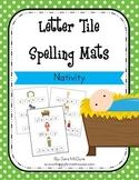 Christmas Nativity Letter Tiles Spelling Mat