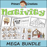Christmas Nativity Preschool Literacy and Math Bundle