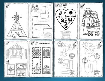 Christmas Nativity Mini Activity Book