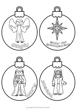 Christmas Nativity Ornaments ~ Jesus, Star, Wise Men and More