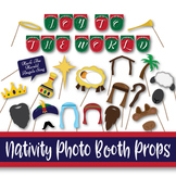 Christmas Nativity Photo Booth Props and Decorations - Printable