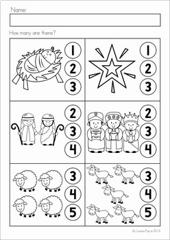 Christmas Nativity Preschool No Prep Worksheets Activities