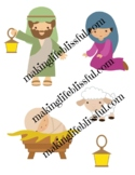 Christmas Nativity Printables for Felt Board, Stick Puppets, and Teaching