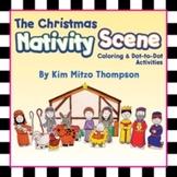 Christmas Nativity Scene Coloring & Dot-to-Dot Printables