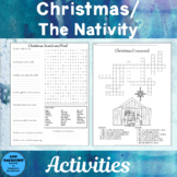 Christmas Nativity Word Search and Crossword