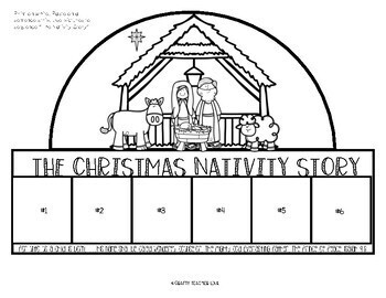 Christmas Nativity Sequencing Hat