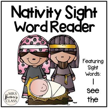 Christmas Nativity Sight Word Reader
