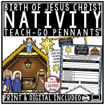 Christian Christmas Nativity Story Bible Activities - The Birth of Jesus Christ