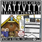 Digital Christian Christmas Nativity, Birth of Jesus Christ Writing Activities