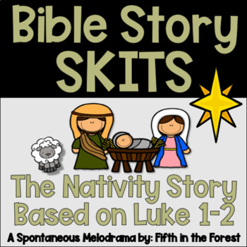 The Christmas Story Bible.Christmas Nativity Story Bible Skit
