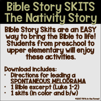 christmas nativity story bible skit