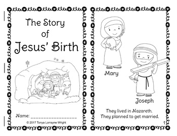 Christmas Nativity Story Coloring Book