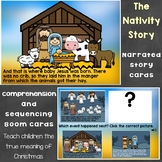 Christmas Nativity Story & Digital Comprehension & Sequencing Boom Cards
