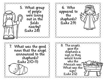 Christmas Nativity Task Cards for Upper Elementary
