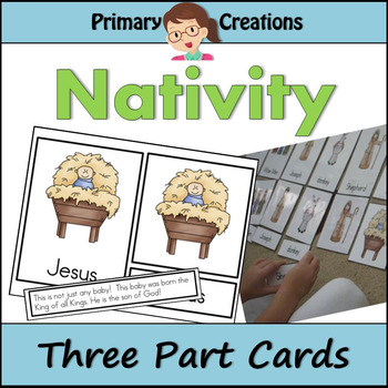 Christmas Nativity Three Part Cards (Montessori Nomenclature Cards)