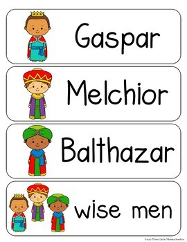 Christmas Nativity Vocabulary Word Wall Cards plus Write and Wipe version