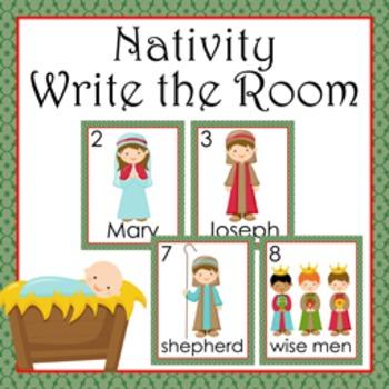 Christmas Nativity Write the Room