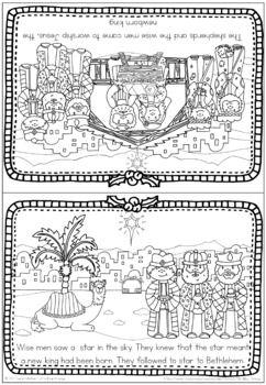 Christmas Nativity coloring book