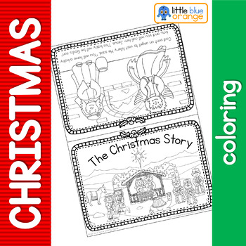 Christmas Nativity coloring book by Little Blue Orange | TpT
