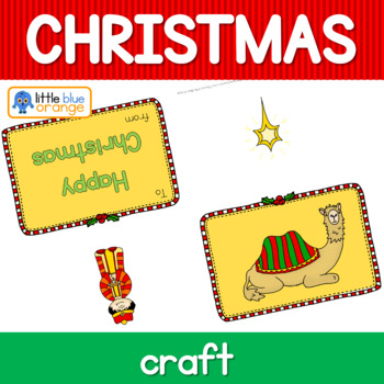 Christmas Nativity craft color-your-own greeting cards