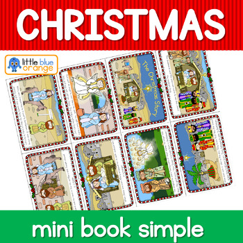 Christmas Nativity  mini book (simplified version)