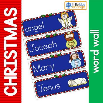 Christmas Nativity word wall