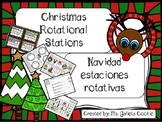 Christmas Navidad 5 rotational stations and flashcards Eng