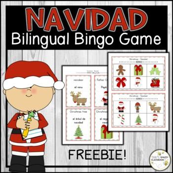 Christmas - Navidad BINGO Game (English & Spanish)