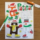 Christmas Navidad Color by conjugation Patinar No prep Spanish -AR verbs