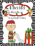 Christmas / Navidad - Sequential Writing Craftivity - Spanish
