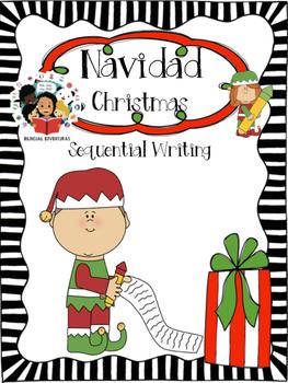 Christmas / Navidad - Sequential Writing Craftivity - Spanish