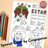 Christmas ~Navidad ~Spanish verb ESTAR ~Color by verb conjugation ~NO PREP
